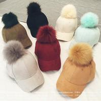 baseball south korea - South Korea s new candy colored hair ball suede suede baseball cap women s outdoor Chaochao fashion caps