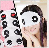 Wholesale 100pcs Panda Sleeping Eye Mask Nap Eye Shade Cartoon Blindfold Sleep Eyes Cover Sleeping Travel Rest Patch Blinder