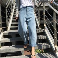 Wholesale bleached boyfriend jeans women denim pants bohemian retro pantalon femme pantalones vaqueros loose spring summer jean