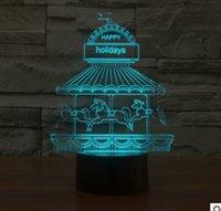 amusement park lights - 2017 The new amusement park colorful D light creative touch desktop desk lamp energy saving LED illusion lamp