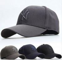 al por mayor ny snapback ajustable-NY YANKEES Cap Gorra de béisbol Unisex curvado Flex Snapback Sport Golf Hip-Hop sombrero ajustable al aire libre de senderismo Camping Quick-secado Cap Sun Hat