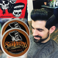 Wholesale 2016 Suavecito Pomade Hair Gel Style firme hold Pomades Waxes Strong hold restoring ancient ways big skeleton hair slicked back hair oil wax