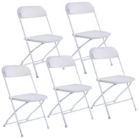 Wholesale New Set of Plastic Folding Chairs Wedding Party Event Chair Commercial White