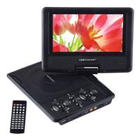 DBpower 7,5 pulgadas de DVD portátil reproductor de DVD Portatil con compatibilidad con tarjetas SD y pantalla giratoria USB en formatos MP4 / AVI / RMVB / MP3 / JPEG