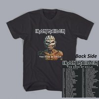 band tour shirts - Rock Band T Shirt Black IRON MAIDEN World Book Of Souls Tour Dates New Mens Womens Short Sleeve Tshirt Custom Cotton