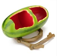 Wholesale Watermelon Plastic Bird Cup Bird Food Feeder Special and beautiful watermelon design Easy to install and clean