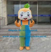 adult size bibs - Stronghearted Orange Monkey Mascot Costume Cartoon Character Mascotte Adult Brown Eyes Blue Green Bib Pants Red Tongue ZZ1793 FS