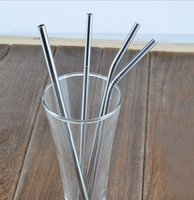 Wholesale excurved Durable Stainless Steel Drinking Straw Straws Metal for Bar Family kitchen