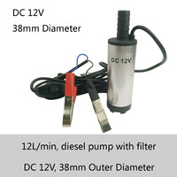 battery transfer - 38mm outlet diameter L min flow V DC MINI Diesel Submersible Transfer Pump with battery clamp or Cigarette lighter