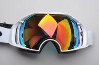 Wholesale New AIRBRAKE brand professional ski goggles double lens UV400 anti fog big ski glasses skiing snowboarding men women snow goggles