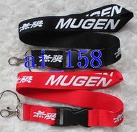 automobile cell phone holder - men s automobile car MUgen Black KEY Chain Lanyard neck lanyards Cell Phone Straps Charms ID Holder colours can choose