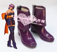 ayane cosplay - DOA Dead or Alive AYANE ASSASSIN cosplay shoes boots shoe boot HY094 Halloween