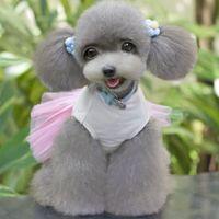 Wholesale Heart Dog Clothes Princess Dress Tutu Laminated Romantic Gauze Skirts Cute