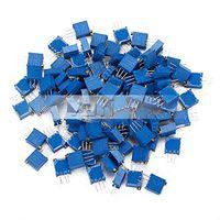 3296W 100K Ohm Resistor variable Kit condensador de ajuste del potenciómetro de ajuste del potenciómetro (paquete de 100) El té de la olla kit de transmisor