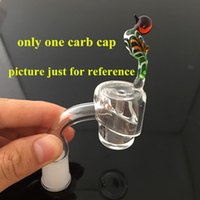 Wholesale Beautiful Glass Carb Cap For mm mm thick Domeless Quartz Nail Carb Caps Quartz Bangers Dab Nail Carb Caps Oil Rigs Nail Glasses
