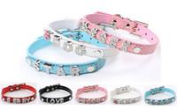 Wholesale 20PCS Colors PU Leather Crocodile Skin Pet Cat Dog Collar With Slide Bar Fit for mm diy slide letter slide charm