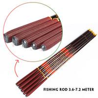 carbon fiber fishing rod - Goture Carbon fiber fishing feeder rod telescopic pole spinning ultra light fish fishing rods stream carp rod Meter