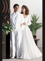 azul beach - Traje de Novio Azul Beach Wedding Suit White Groom Tuxedos Grooms men Best Mens Suits Custom Made Men Wedding Suits Jacket Pants Vest