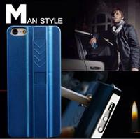 apple bottle opener - USB Lighter Cell Phone Hard Case Fire Smoking Cigarette Luxury Mobile Cover A bottle opener Case for iPhone S PLUS