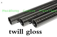 Wholesale 1 MM OD x MM ID Carbon Fiber Tube k MM Long with full carbon Roll Wrapped Quadcopter Hexacopter Model DIY