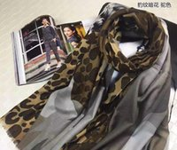 Cheap LOE-M75400 Original package New classic color stripes floral leopard+stone long scarf , 300 water soluble cashmere blended yarn,size 90x200