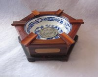 Wholesale Chinese Wood Porcelain With Dragon Patterns Ashtray