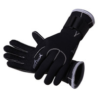 anti skid material - 3mm Neoprene scuba dive gloves Snorkeling Equipment Anti Scratch skid Keep warm Wetsuit material Winter swim spearfish free ship S012