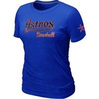 astros colors - Cheap Houston Astros Women Baseball T Shirt Short Sleeve Practice T shirt Cotton Astros Tees Shirts Colors