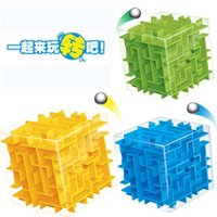 best brain toys - 3D Labyrinth Game Magic Cube Maze Labyrinth Rolling Ball Balance Brain Teaser kids Toy Best Gift cm
