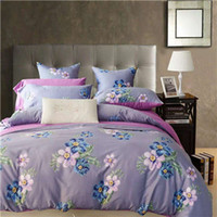 Wholesale DY Al Purple Home Textiles Bedding Sets Fresh And Natural Flower Style Hot Spot