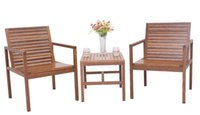 Wholesale Outdoor Furniture Solid Wooden Garden Set Chairs And Desk