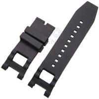 al por mayor x negro correa-28mm x 16mm correa de reloj de goma negro correa para Invicta pulseras de silicona Watch accesorios no hebilla