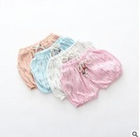 Wholesale Baby Shorts Pattern Summer Flower Buds Shorts Cotton Linen Bubble Shorts Newborn Clothes Baby Bread Shorts Baby Pants Infant Bloomers Shorts