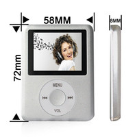 Wholesale 64GB SILVER ipodNANO3 Mini Usb Port Slim Small Multi lingual Selection LCD Portable MP3 MP4 Player Video Player Music Player