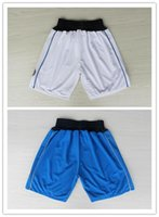 Wholesale Cheap Dallas Basketball Shorts In White Blue For Nowitzki Rondo Chandler High Quality