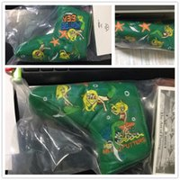 Wholesale Hot style CUSTOMized green embroidery little mermaid headcover top PU leather covers top quality golf headcovers logo no show