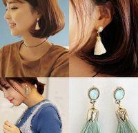 Wholesale butterfly Han edition South Korea crystal earrings leaves women jewelry earring tassels eardrop of personality fashion stud earrings