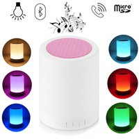 aux input switch - Touch Lamp Portable Speaker Bluetooth Wireless LED Dimmable Multicolored Table Lamp Music Player TF Card AUX Input Hands Free USB Charging N