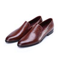 berluti shoes - berluti_Venezin calfskin men loafers luxury wedding shoes berluti style in coffee blue black purple colors goodyear welted