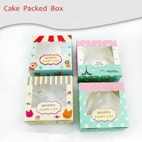 Wholesale 13 cm cm cm Baking Packed Puffs box Eggs Tart moon cake rectangle Boxes Circus Series Eiffel Tower