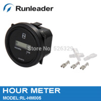 Wholesale LCD Round Hour Meter DC V Timer hour meter Motorcycle Accessories amp Parts Cheap Motorcycle Accessories amp Parts