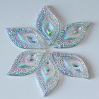 Wholesale x30mm Leaf shape Clear AB Sew On Rhinestone Flatback Resin Sew On Rhinestones For Sewing Accessories B0666