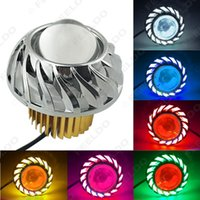 Wholesale Motorcycle Car Hi Lo Beam Projector Lens Headlight with Angel Eye Demon Eye LED Fog Light Color