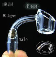 Wholesale 4mm thick club banger domeless QUAVE CLUB BANGERS QCB quartz nail mm mm male and female joint Real Quartz