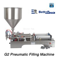Wholesale G2 stainless steel horizontal pneumatic liquid filling machine automatic filling machine Filling Machine double nozzle filler