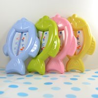 bath tips - Baby Floating Fish Water Thermometer Plastic Float Bath Tub Sensor C L00093
