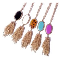 Wholesale Kendra Scott Pendant Necklaces New Style Colors Gold Tonal Popular Tassels Necklaces for Women