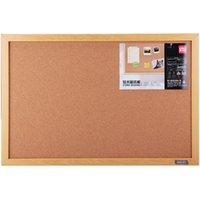 Wholesale Effective cork board message board photo wall wood frame needle message cm