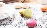 Wholesale 65 Circles Round DIY Silicone macarons mat or non stick fda silicone fiberglass baking mat macaron silicone mold