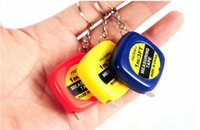 Wholesale whiSmall tape measure meter portable mini soft tape measure ruler keychain pendant small gifts gift metric inch tape measure